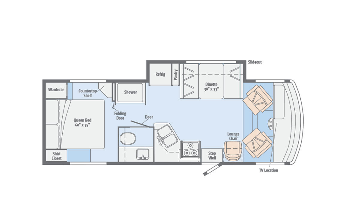 2014 Itasca Sunstar 26HE Floorplan