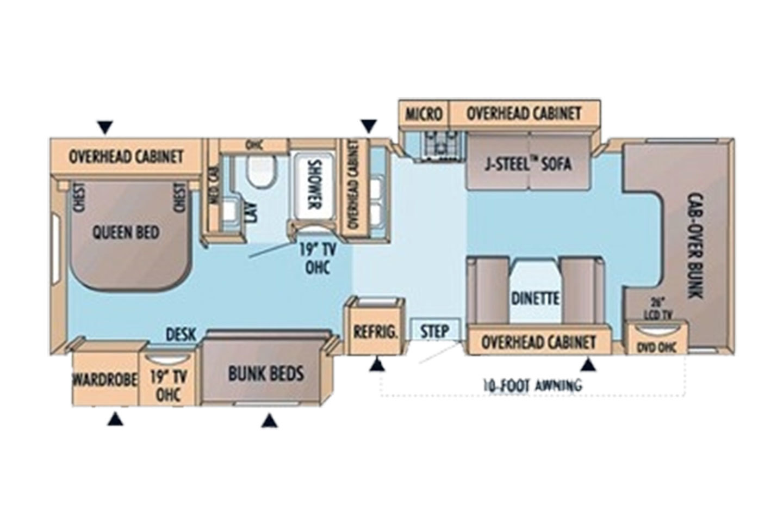 2009 Jayco Greyhawk 31FS Floorplan