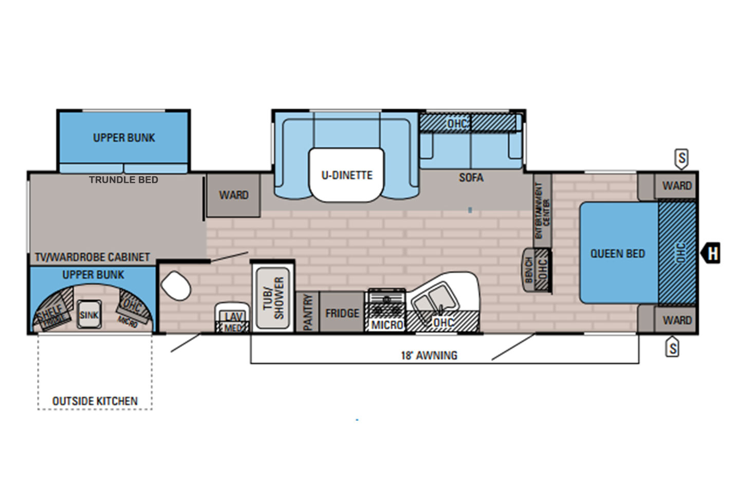2014 Jayco Eagle 314BHDS Floorplan