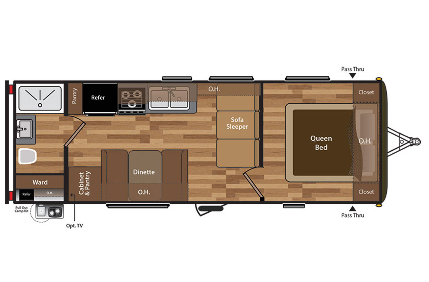2018 Jayco Jay Flight 232RBW Rocky Mountain Floorplan