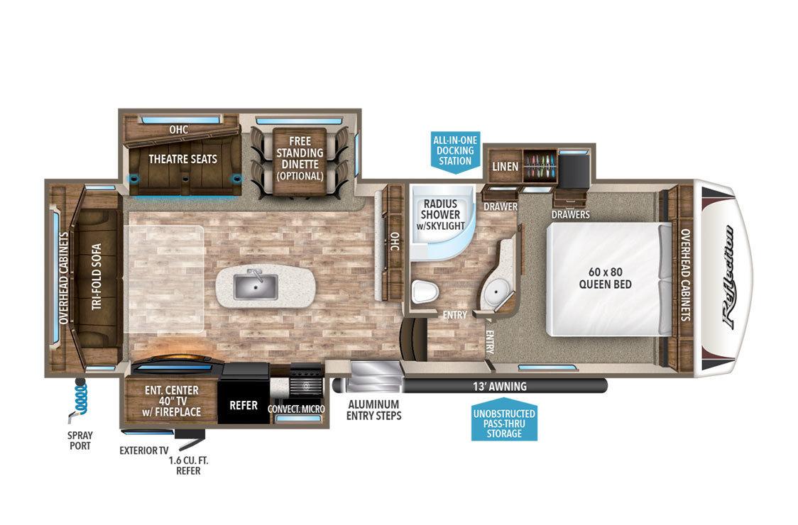 2018 Grand Design Reflection 29RS Floorplan