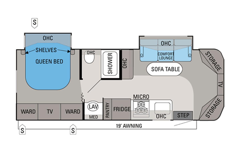 2012 Jayco Melbourne 26A Floorplan