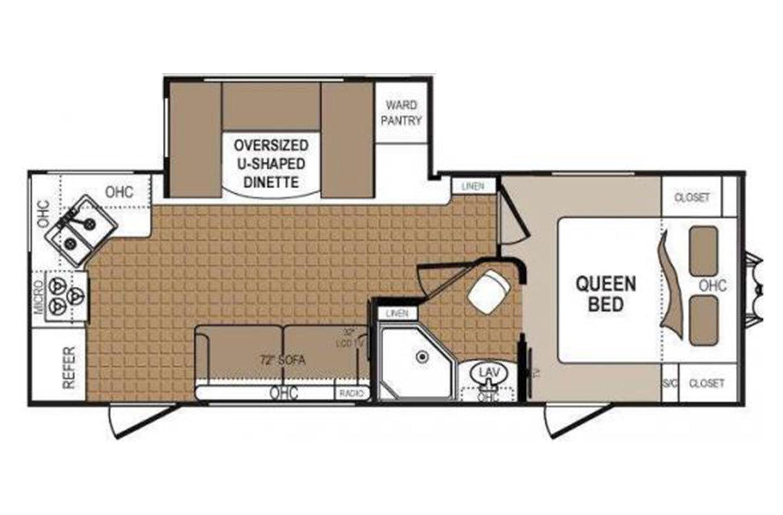2013 Thor Denali 246RK Floorplan