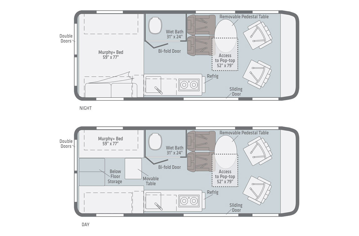 2020 Winnebago Solis 59P Floorplan