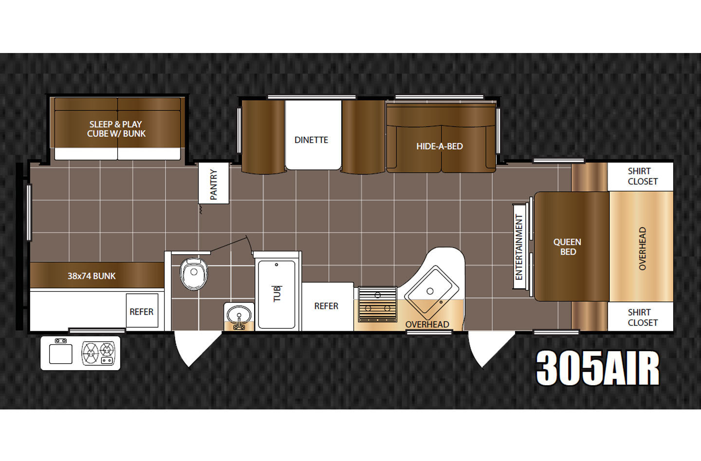 2020 Grand Design Transcend Xplor 261BH Floorplan