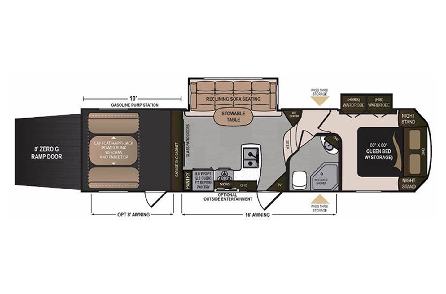 2018 Dutchmen Voltage 3005 Floorplan