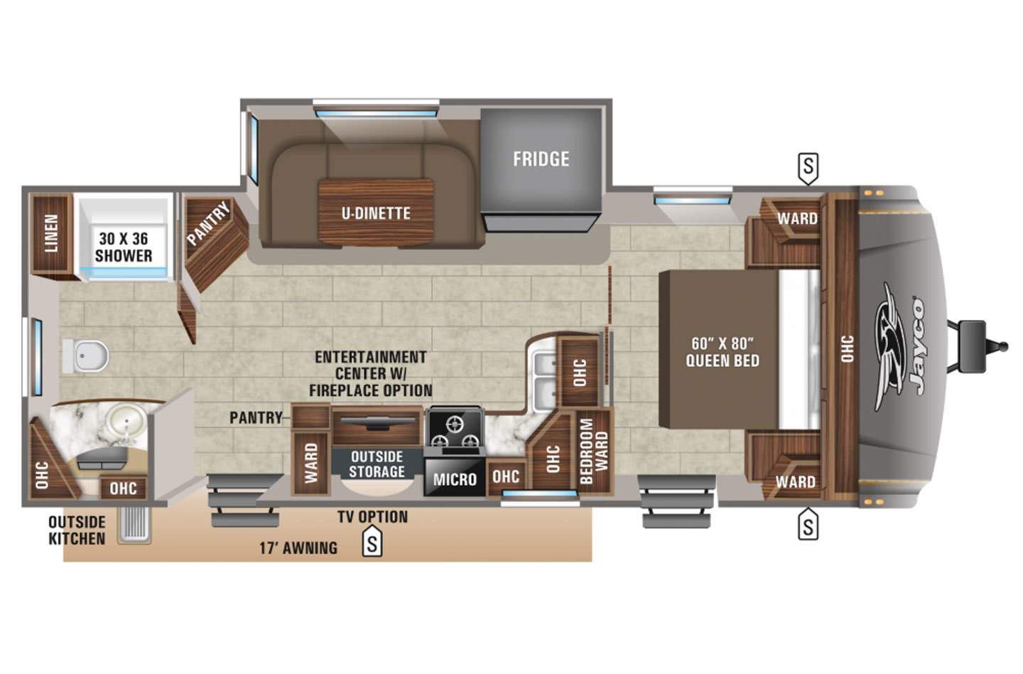 2020 Jayco Eagle HT 262RBOK Floorplan