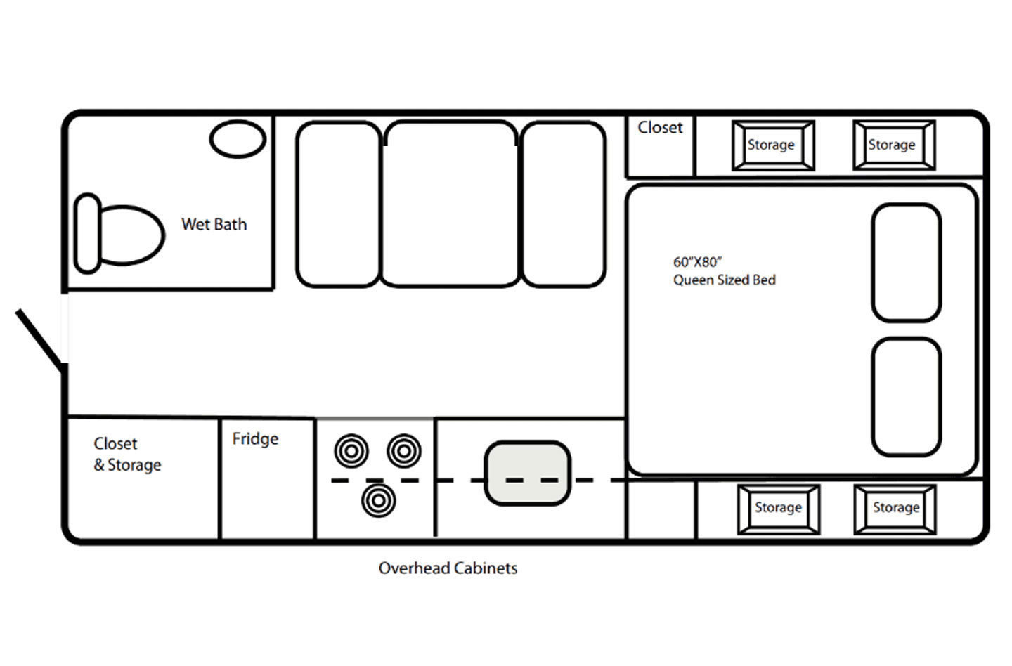 2021 Northern Lite 8.11 EX Wet Bath Limited Edition Floorplan