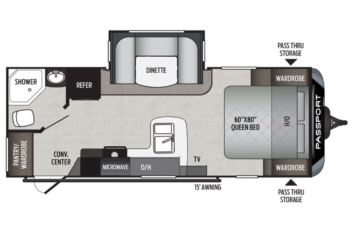 2021 Grand Design Imagine 17MKE Floorplan