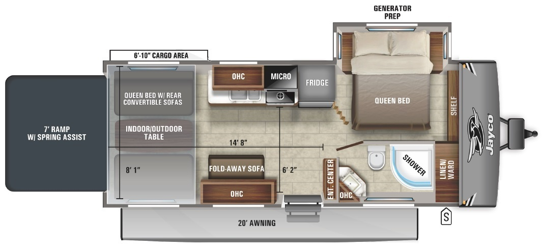 2021 Jayco Jay Flight Octane 255 GL Floorplan
