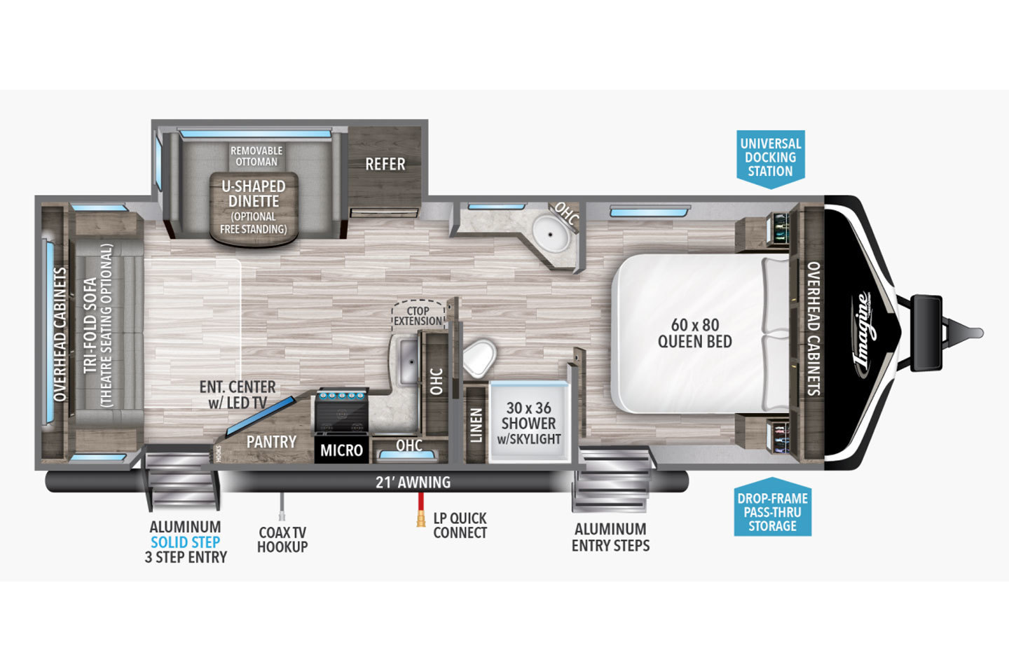 2021 Grand Design Imagine 2970RL Floorplan