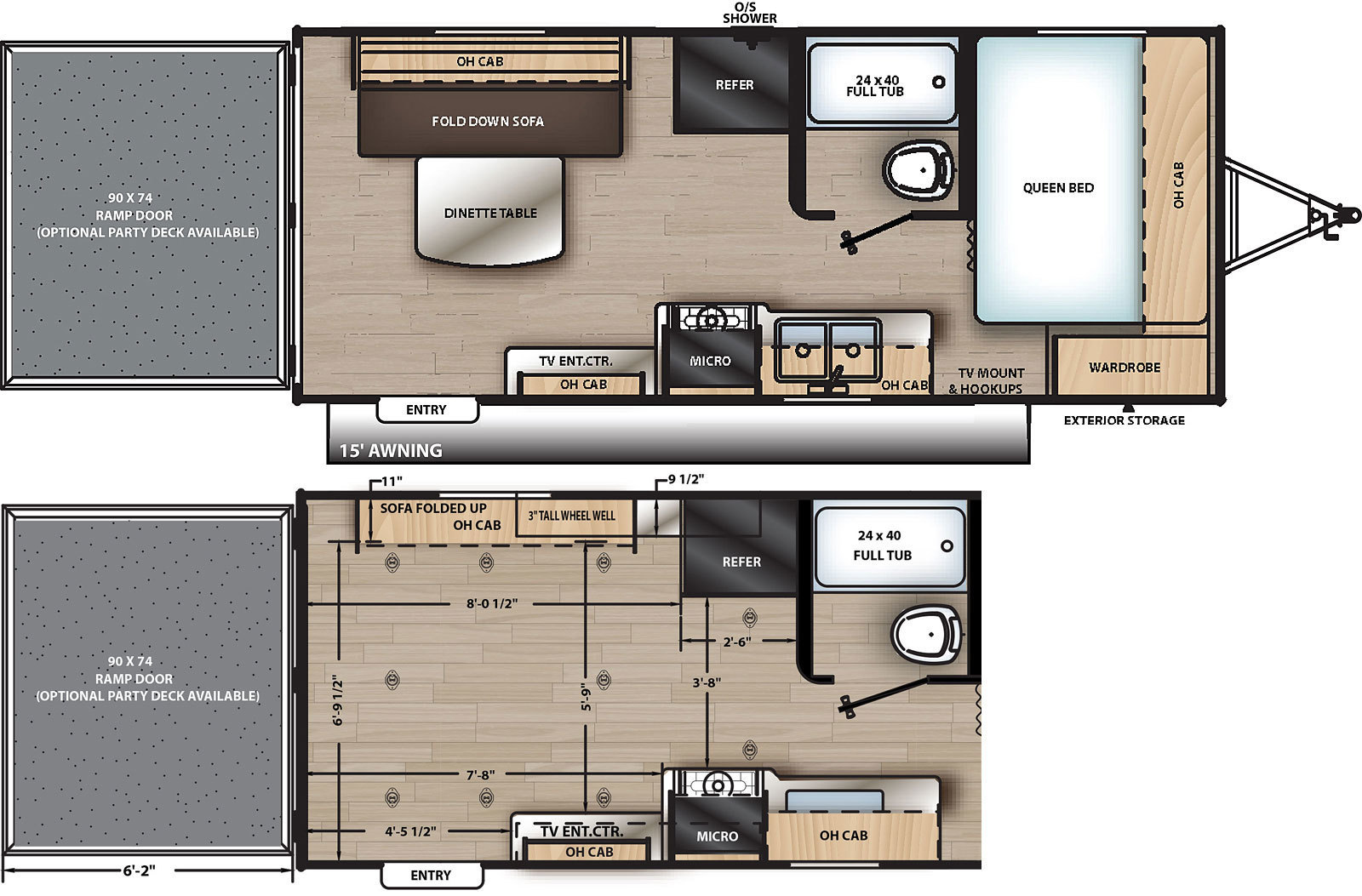 2019 Coachmen Catalina Trail Blazer 19TH Floorplan