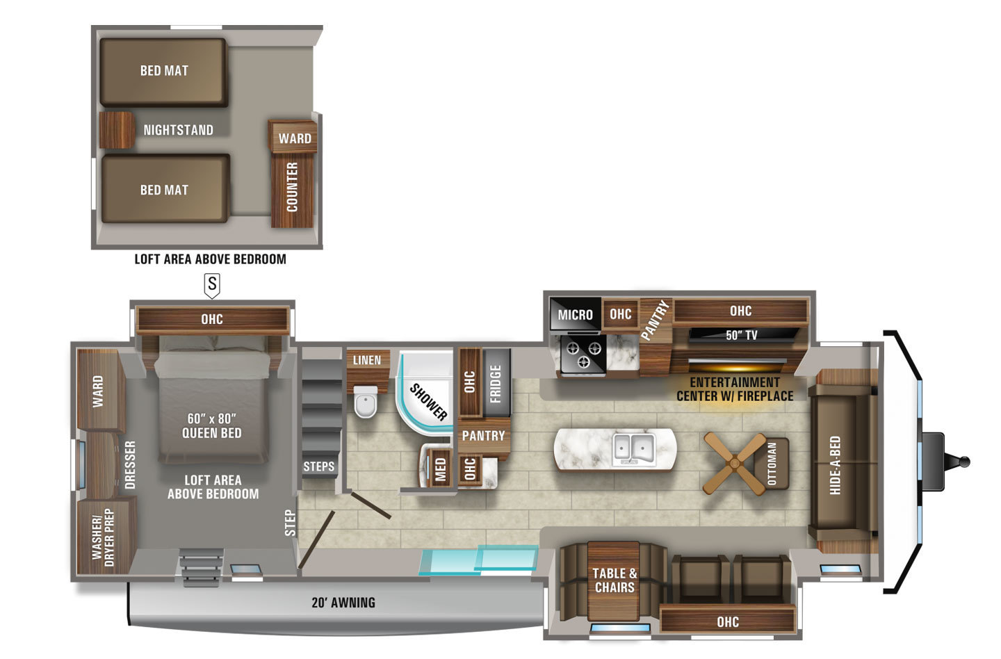 2021 Jayco Jay Flight 40LOFT Bungalow Floorplan