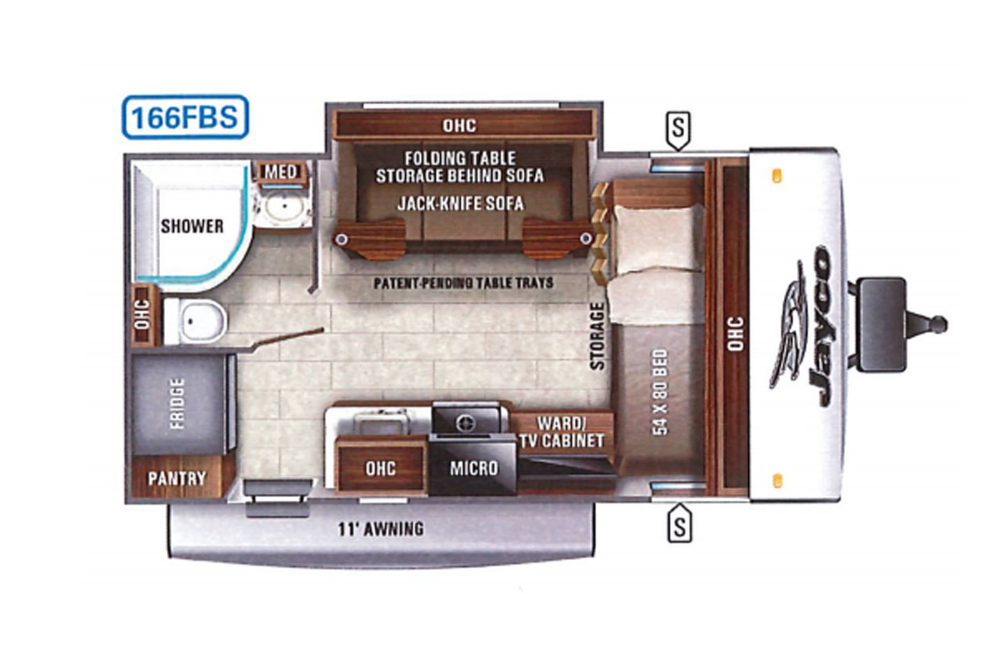 2021 Jayco Jay Feather Micro 166FBS Floorplan