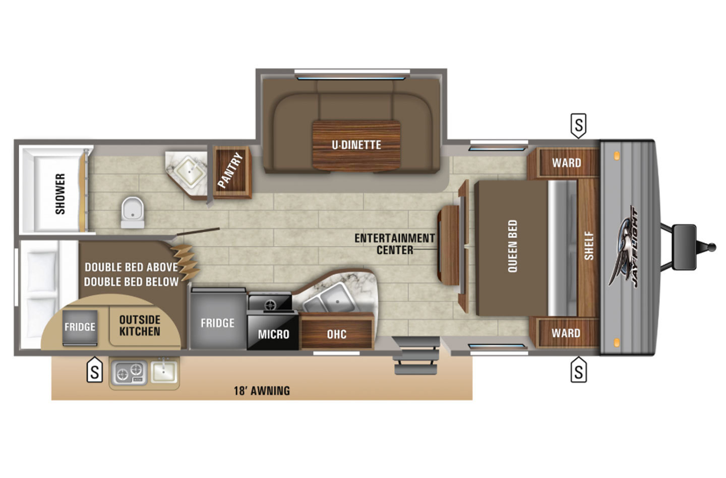 2021 Jayco Jay Flight Rocky Mountain 264BHW Baja Floorplan