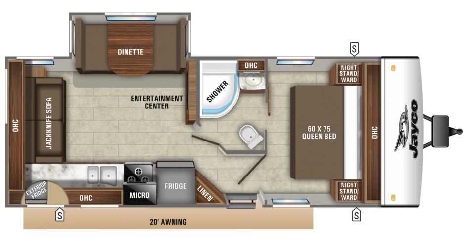 2021 Jayco Jay Feather 24RL Floorplan
