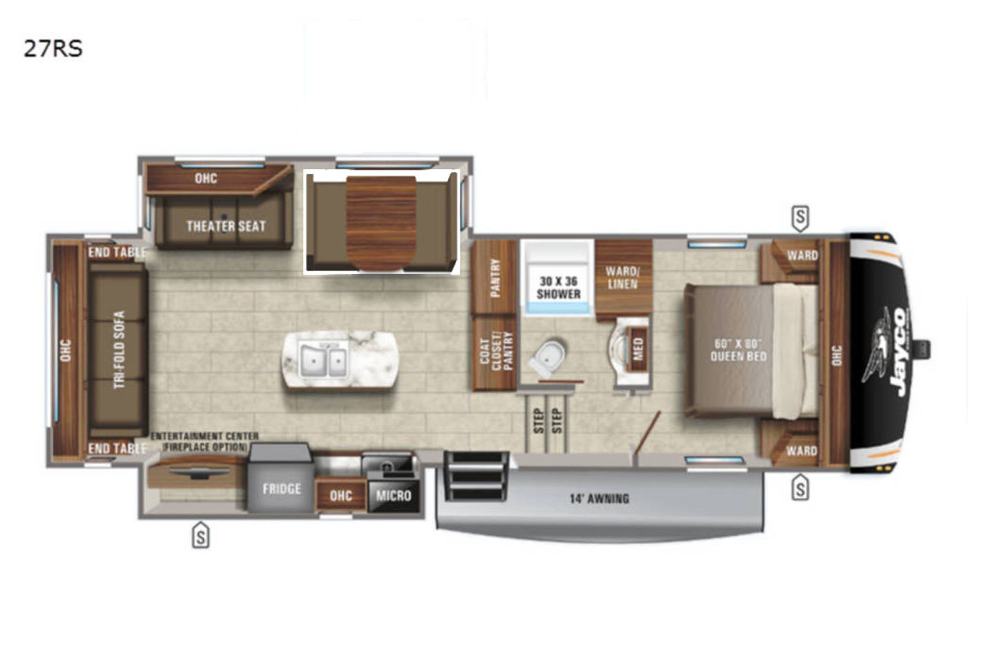 2021 Jayco Eagle HT 27RS Floorplan