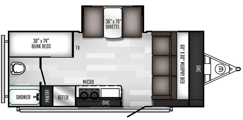 2021 Jayco Jay Feather X213 Floorplan