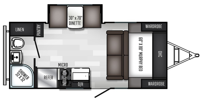 2021 Keystone Passport SL 178RD Floorplan