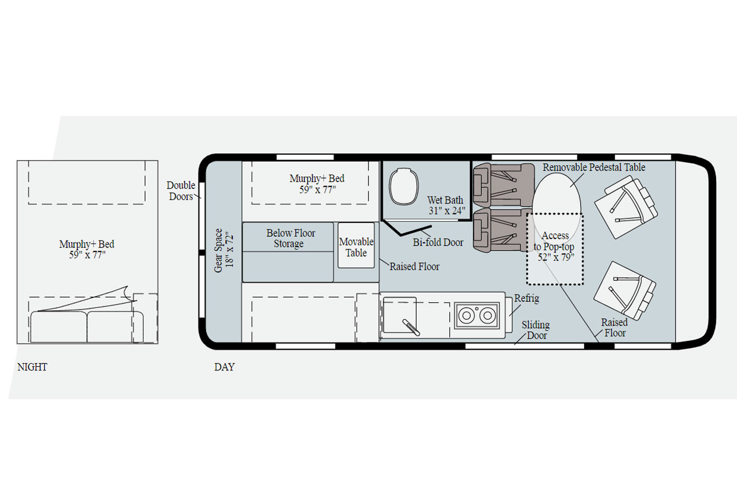 2021 Winnebago Solis 59PX Floorplan