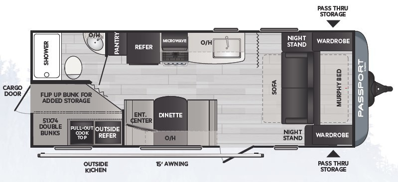 2021 Keystone Passport SL 219BHWE Floorplan