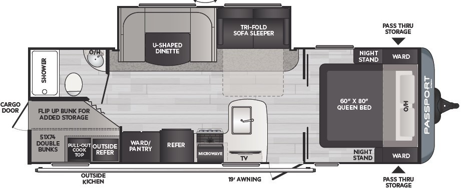 2021 Keystone Passport SL 268BHWE Floorplan