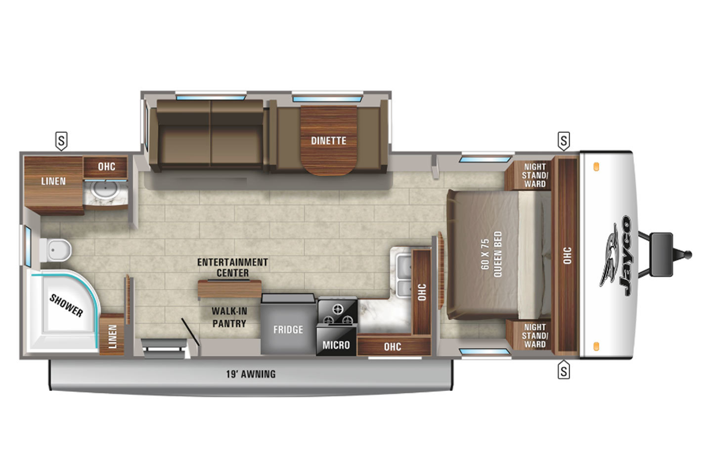 2021 Jayco Jay Feather 25RB Floorplan