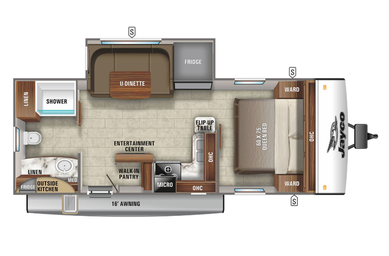 2021 Jayco Jay Feather 22RB Floorplan