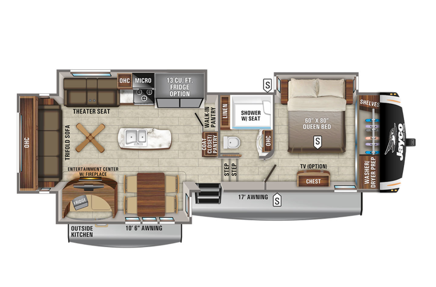 2021 Jayco Eagle 317RLOK Floorplan