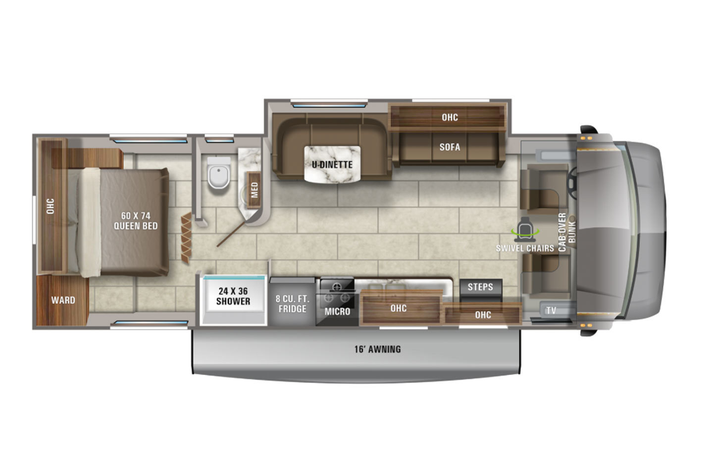 2021 Jayco Redhawk 29XK Floorplan
