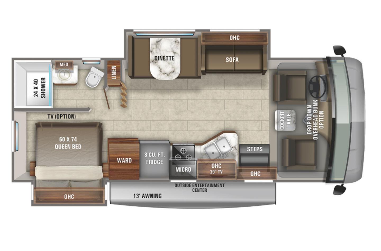 2021 Jayco Alante 27A Floorplan