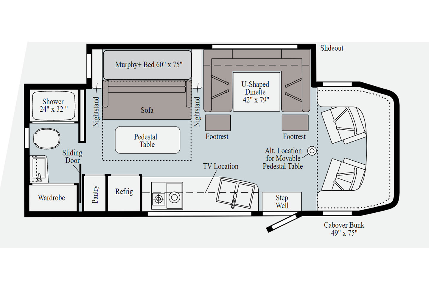 2021 Winnebago Navion 24D Floorplan