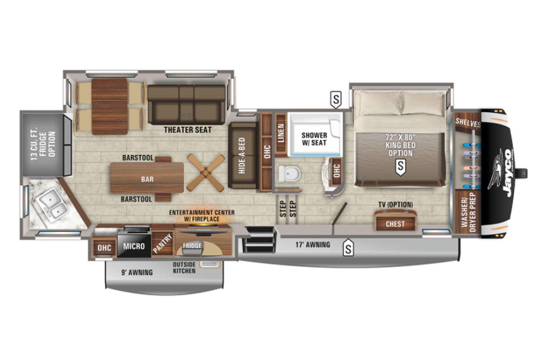 2022 Jayco Eagle 319MLOK Floorplan