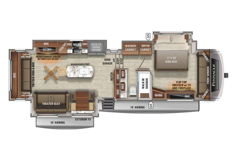2022 Jayco Pinnacle 36SSWS Floorplan