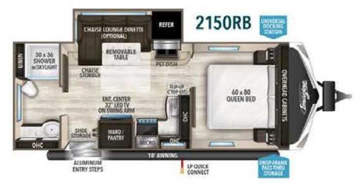 2020 Jayco White Hawk 23MRB Floorplan