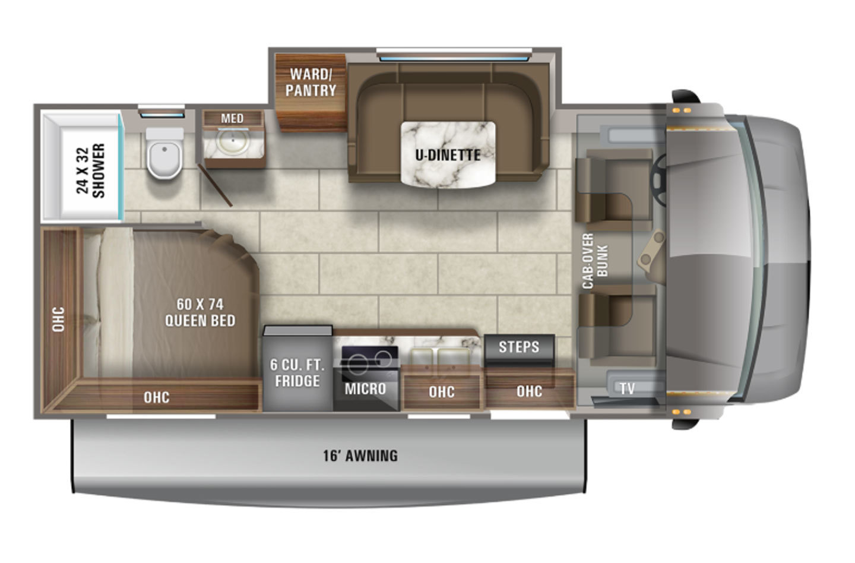 2021 Jayco Redhawk SE 22A Floorplan