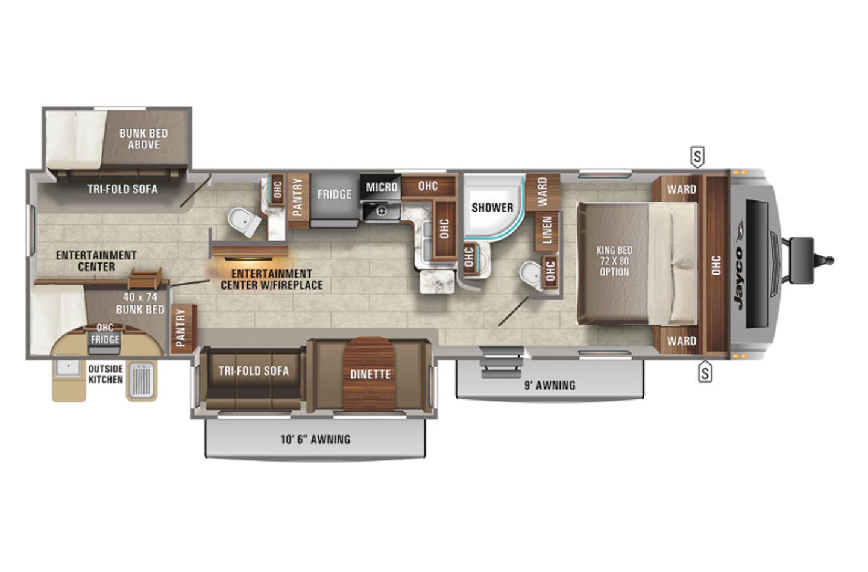 2022 Jayco White Hawk 32BH Floorplan