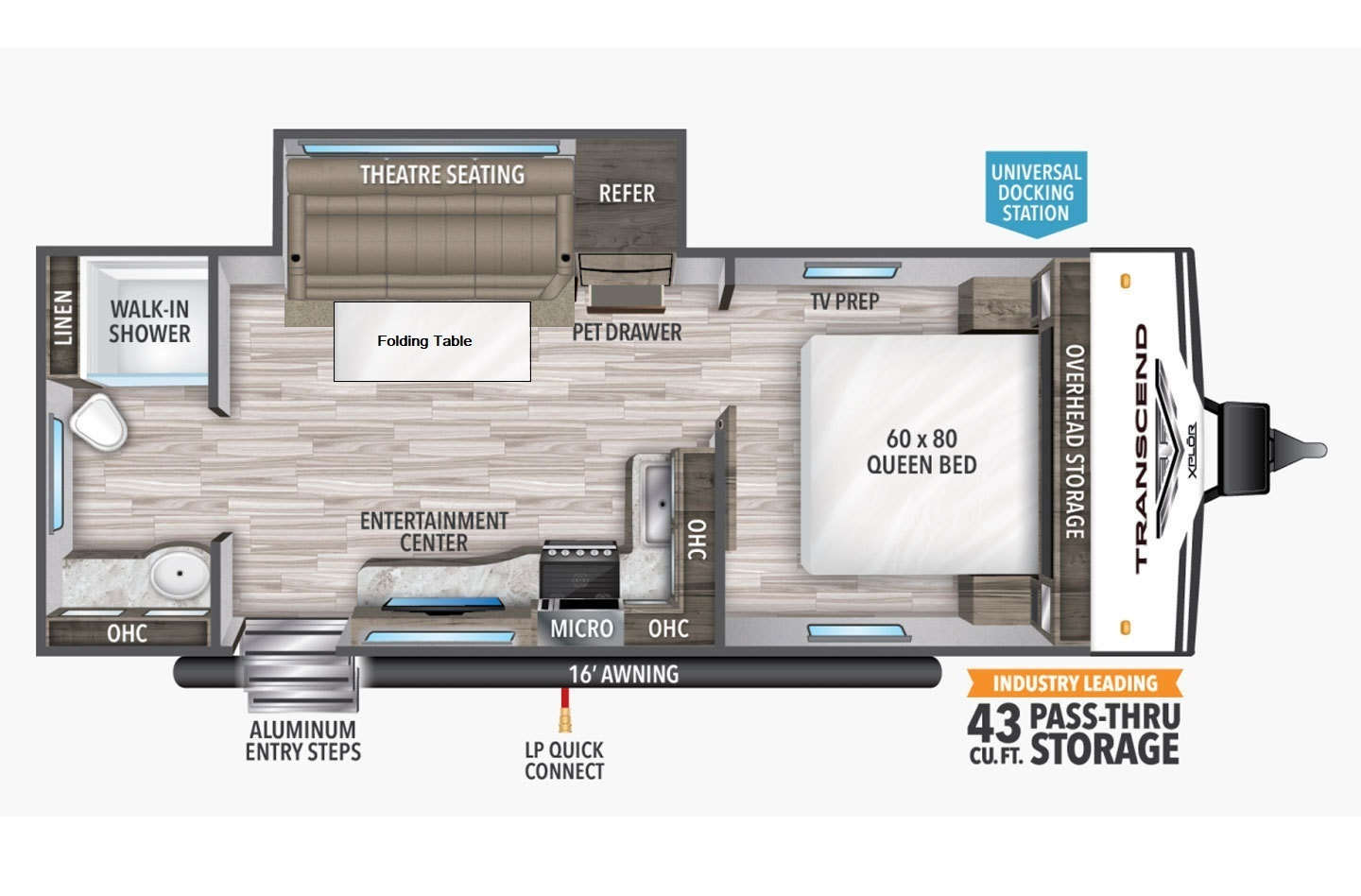 2021 Grand Design Transcend Xplor 221RB Floorplan