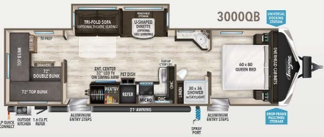2021 Keystone Passport GT 2950BHWE Floorplan