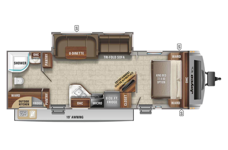 2021 Jayco White Hawk 27RB Floorplan