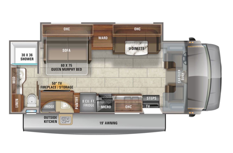 2021 Jayco Redhawk 26M Floorplan
