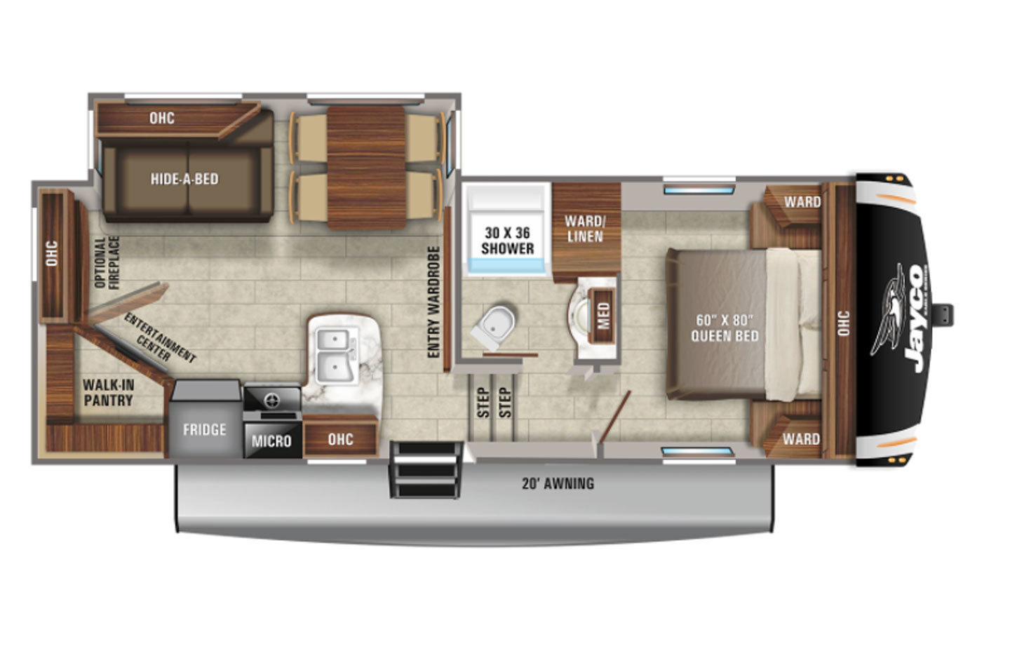 2021 Jayco Eagle HT 24RE Floorplan