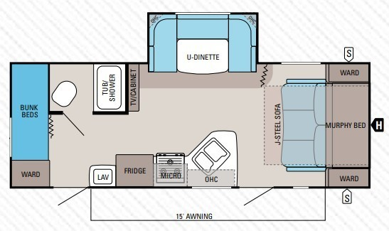 2021 Jayco Jay Flight SLX-7 184BS Baja Floorplan