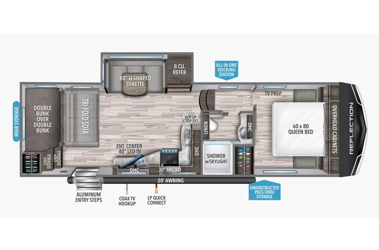 2022 Grand Design Relfection 150 Series 268BH Floorplan