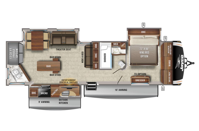2022 Jayco Eagle 332CBOK Floorplan