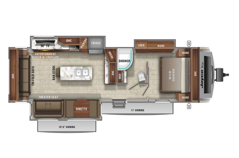 2021 Jayco White Hawk 32RL Floorplan