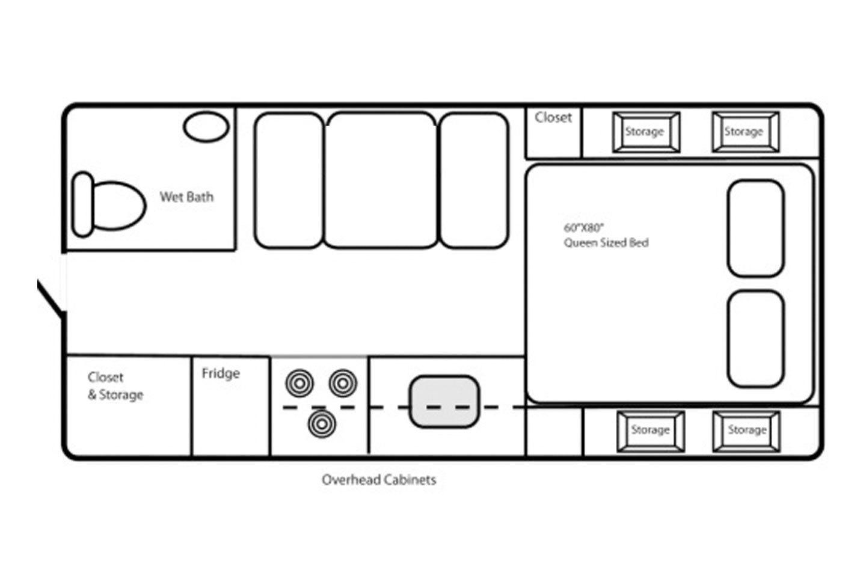 2021 Northern Lite 8.11 EX Wet Bath Special Edition Floorplan