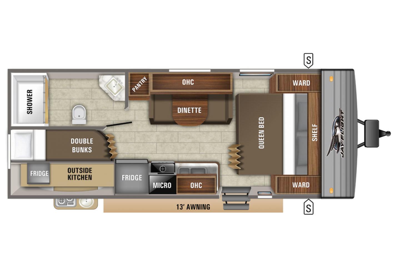 2021 Jayco Jay Flight 224BHW Baja Rocky Mountain Floorplan