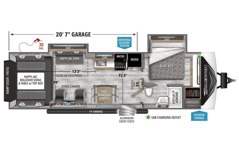 2021 Grand Design Momentum G-Class 30G Floorplan