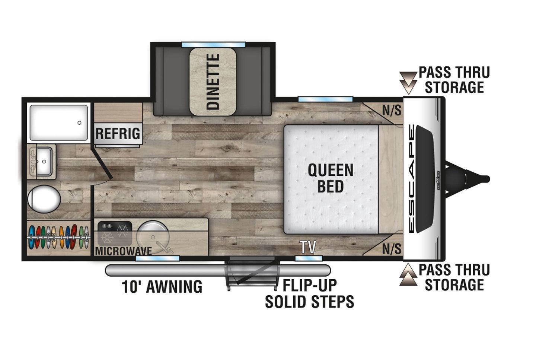 2021 KZ Escape E181RB Floorplan